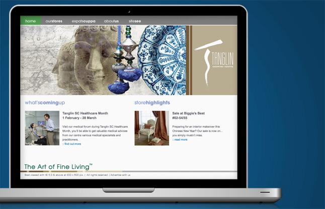 Shopping Centre Website Design